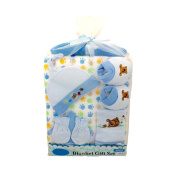 9 PCS BABY BLANKET GIFT SET FOR BOYS OR GIRLS 0/6 MONTHS