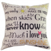 SMTSMT Vintage Cotton Linen Blended Cushion Cover Throw Pillow Case