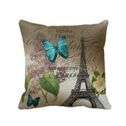 SMTSMT Pillow Case Sofa Waist Throw Cushion Cover Home Decor-Blue
