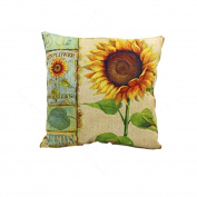 SMTSMT Pillow Case Sofa Waist Throw Cushion Cover Home Decor-Yellow