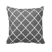 SMTSMT Pillow Case Sofa Waist Throw Cushion Cover Home Decor-Grey