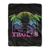 Trolls Multicoloured Trolls Throw - 100cm x 130cm