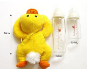 Eshion Baby Bottle Animals Plush Feeder Toddler bottle Out Warm Cover