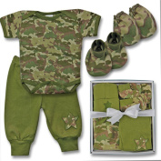 Woodland Baby Camo Baby Boy Pant Outfit Gift Set 0-3 Months