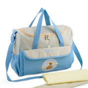 Multifunction Large Capacity Nappy Tote Bag Organiser-Blue