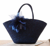 Designer Summer Straw Woven Beach Bag