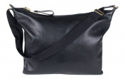 Tom Ford Large Black Pebbled Leather Shoulder Bag with Adjustable Strap