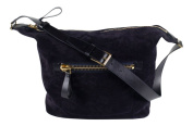 Tom Ford Large Deep Purple Suede Leather Shoulder Bag with Adjustable Strap