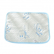 Fairy Baby 4-layer Washable Bamboo Baby Changing Nappy Pad Antiskid Blue,Packing of 1