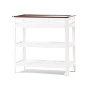 Child Craft Studio Dressing Table, white/brown finish