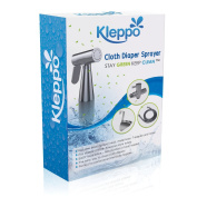 Kleppo Cloth Nappy Toilet Sprayer Kit - Premium Brass Chrome Hand Held Bidet Shattaf, Metal Hose, T-Valve (2.2cm ), and Mounting Clip Attachment Adapter