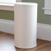 LaMont Home PVC, Polyester White Basketweave Round Hamper