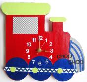 Nursery Wall Clock, Nursery Train Clock, Hanging Train Clock, Children's Room Wall Clock, Train Clock, Kid's Room Train Wall Clock