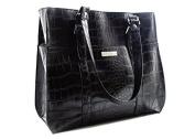 Pouchee MLT.CR.BLK Melbourne Tabee with Handbag, Black Croco