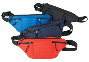 DDI 1923008 Poly Four Zipper Fanny Pack, Royal