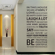Funnytoday365 Family House Rules Stickers Wall Decal Removable Art Vinyl Decor Home Kids