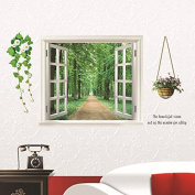 Funnytoday365 Splendid Fashion Wall Sticker Fake Window Wall Poster Decorative Removable Wallpaper