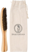 Spartans Den 100% Boar Beard Brush | Natural Bristle & Eco-Friendly Bamboo Handle | Best For Grooming Your Beard When Using Oil, Balm, Wax & Pomade | 100% Satisfaction Guaranteed