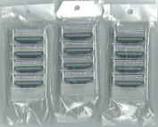 12 Refill Razor Cartridges Compatible With Gillette Mach 3 Blades