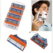 4 Generic Replacement Blades Cartridge for Gillette Fusion Razor. LN