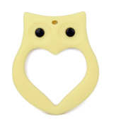 LONGDA - Baby Teething Toy, Adorable Owl Ring Design Teether, BPA-Free FDA Approved Food Grade Silicone, Best for Sore Gums Pain Relief, Perfect Baby Gift