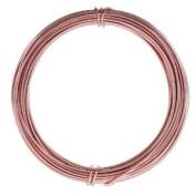 Aluminium Craft Wire 12 Gauge 12m ROSE GOLD