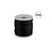 Round Rubber Cord Black 1mm 5 metres / 5.4 Yards.
