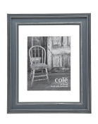 Philip Whitney Distressed Grey Picture Frame 11x14 or 8x10 With Mat