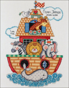 "Brand New Noah's Ark Birth Record Counted Cross Stitch Kit-28cm ""X14"""" 14 Count Brand New"