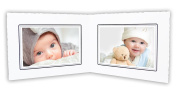 Golden State Art, Cardboard Photo Folder For Double 6x4 Photo (Pack of 50) GS003 White Colour