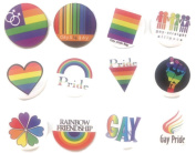 Gay brooch emblem 1 Awesome Quality Lot 12 New Pins Pinbacks Buttons Badge 3.2cm