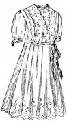 1914 Girls' Empire Dress with Surplice Waist Pattern