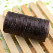 WellieSTR 284yrd Deep Brown Leather Craft Sewing Waxed Thread Heavy Duty Waxed Thread Sewing Waxed Coarse Whipping Thread 1mm Leather Hand Stitching S020 125g