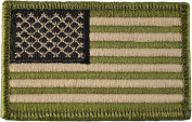 Tactical USA Flag Patch - Multitan 5.1cm x 7.6cm hook and loop Backing - By Ranger Return