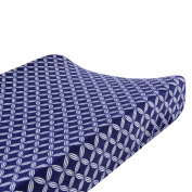 Just Born Valboa Changing Pad Cover, Hampton Navy