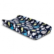 CircoTM Changing Pad Cover - Whales 'n Wave