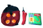 Kookiekid Ladybug Safety Harness Backpack
