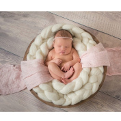ColorName Newborn Baby Photography Backdrop Braid Wool Spinning Fibre Wrap Baby Photo Props