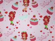 Strawberry Shortcake Sweet Cupcake (Flat Top Sheet Only) Size TODDLER Boys Girls Kids Bedding
