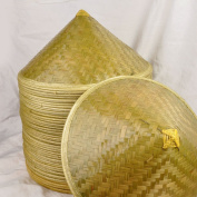 Hand Made Chinese Bamboo Conical Coolie Hat for Men Adults
