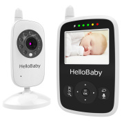 Best Video Baby Monitor, Hellobaby Security Digital Baby Videos Camera with Night Vision /Temperature Monitoring/ 2 Way Talk Talkback System