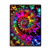 Tie Dye Go With Flower Soft Fleece Blankets and throws 150cm X 200cm (Large) Christmas gift