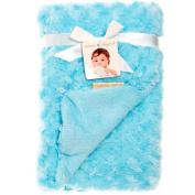 Turquoise Rosette Blanket