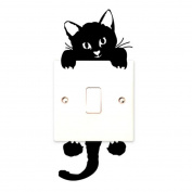 Tenworld Cat Wall Stickers Light Switch Decor Decals Art Mural Baby Nursery Room Hot