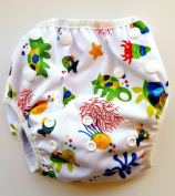 Swim Nappy - Reusable and Adjustable for Babies 0 to 12 months and Toddlers up to 3 years by Eco-Friendly Terra Baby