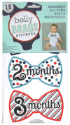 Belly Brags Baby Milestone Stickers, Boy, Bow Ties