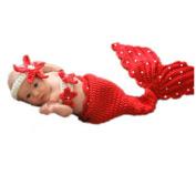 W8sunjs Unisex Newborn Baby Costume Set Photography Photo Mermaid Pattern