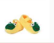 FuzzyGreen® Cute Fog Baby Newborn Infant Girl Boy Hand Knitting Crochet Pre Walker Toddler Buckle Shoes Socks Booties