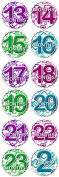 BOX SQUARES 13 Months -2 Years Baby Monthly One Piece Stickers Baby Shower Gift Photo Shower Stickers