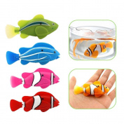 1Pcs Robofish Electronic Toy Activated Battery Powered Robo Fish Kids Robotic Pet Magical Novel Turbot Swimming Clownfish Blue Colour